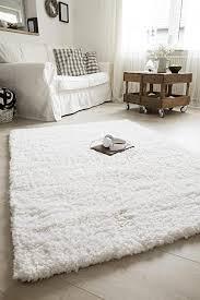 luxor living shaggy teppich crema für wohnzimmer schlafzimmer hochflor langflor in weiß oder taupe auch in rund farbe weiß größe 65 x 130 cm