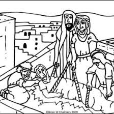 Coloring Page Cardinal Jesus Heals The Paralytic Man Flip Chart