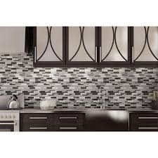 Thinset For Glass Mosaic Tile by Shop Elida Ceramica Sahara Mixed Material Glass And Metal Mosaic
