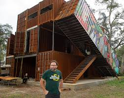 100 Container Shipping Houses Livin The Dream Artist Builds Shipping Container Home