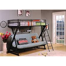 amazon com acme furniture 37136 zazie twin over full futon bunk