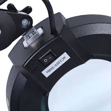 Lighted Magnifying Lamp 5x by Magnifying Lamp 5x Illuminated Smd Light Glass Lens Rolling Desk