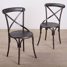 Dining Chairs Cheap Metal Framed Rustic
