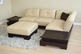 Decoro Leather Sofa With Hardwood Frame by Cream Leather Sofa Open Concept Kitchen Idea In Brisbane With A