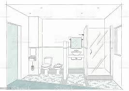 badezimmer der skizze stock vektor und mehr bilder badezimmer