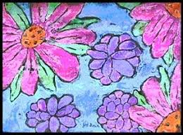 Paper Batik Flowers Lesson Plan Painting For Kids