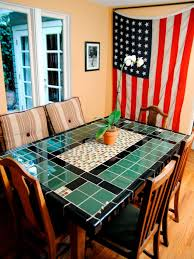 7 counter height dining set with butterfly leaf tile top