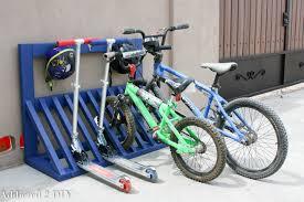 Simple DIY Kids Bicycle Rack With Helmet Storage