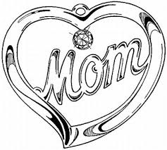 Mothers Day Free Colouring Page