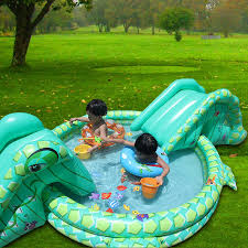 Multi Function Large Size Outdoor Inflatable Swimming Water Pool With Slide Home Use Playground Piscina Bebe Zwembad In From Mother Kids On