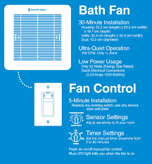 Humidity Sensing Bathroom Fan With Led Light by Dewstop