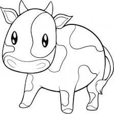 how to draw an easy cow
