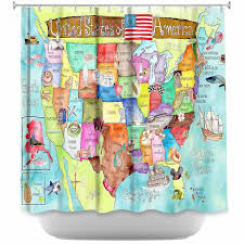 Artistic Shower Curtains by Marley Ungaro United States MAP