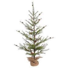 Target Artificial Christmas Trees Unlit by 4 U0027 Unlit River Pine Artificial Christmas Tree With Pine Cones Target