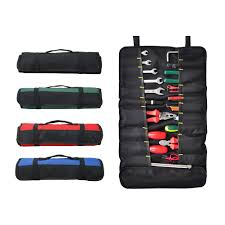 100 Truck Tools Large Wrench Roll Multipockets Socket Tool Roll Pouch Heavy Duty