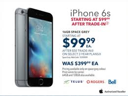 Best Buy Boxing Day Sale 16GB iPhone 6s for $99 99 After Trade In