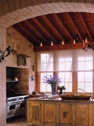 Example Of A Country Kitchen Design In New York With Distressed Cabinets