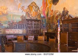 Santa Barbara Courthouse Mural Room by Santa Barbara County Courthouse Interior Stock Photo Royalty Free