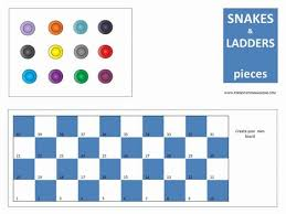 Snakes And Ladders Board Game Inside Page