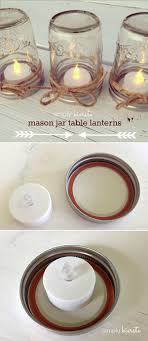 Rustic Mason Jars And Candles Wedding Centerpiece Ideas Vintage Decor