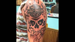 25 Adventurous Harley Davidson Tattoos