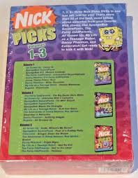 Spongebob Halloween Vhs And Dvd by Nickelodeon Nick Picks Vol 1 3 Dvd Boxed Set New Sealed 2006
