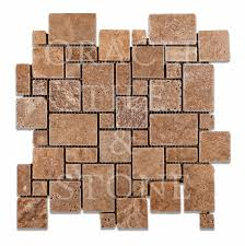 Oracle Tile And Stone Amazon by Andean Walnut Travertine Mini Versailles Mosaic Tile Oracle Tile