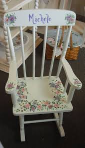 Vintage Children's Rocking Chair, Custom Painted With Hand ...