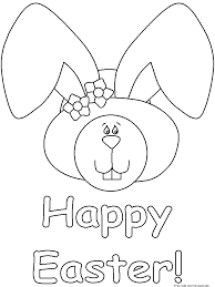 Free Printable Happy Easter Coloring Pages For KidsFree