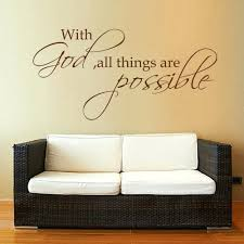Religious Wall Decal With God All Things Are Possible Bible Verse