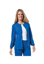 Ceil Blue Scrubs Cherokee by Cherokee Luxe Snap Front Warm Up Scrub Jacket Uniform City