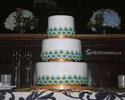 SweetThings Peacock Inspired Wedding Cake