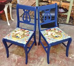 Lyre Back Chairs Antique by Lyre Back Chairs In Coastal Blue Milk Paint General Finishes
