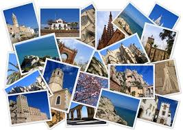 Traveling Around Spain In Collage With Several Shots