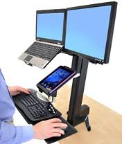 Ergotron Sit Stand Desk by Ergotron Adds Ipad And Document Holder To Workfit S Sit Stand Desks