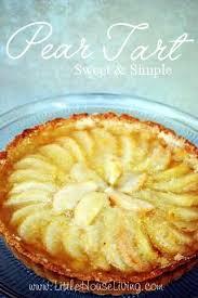 Pear Tart Recipe Dessert Recipes