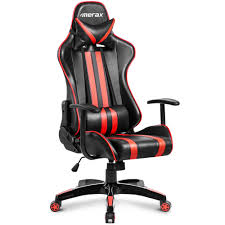 Merax Racing Style Ergonomic Swivel Leather Gaming And Office Chair ... Fniture Enchanting Walmart Gaming Chair For Your Lovely Chairs Outstanding Office Modern Comfortable No Wheel Canada Buy Dxr Racer More Views Dxracer Desk Review Racing Series Doh Relax Seat Lummy Serta Amazon Sertabonded Computer La Z Boy Ultimate Game Top 13 Best 2019 New Design Spanien Cyber Cafe Sillas Adults Recliner With Speakers Rocker Amazoncom Colibroxhigh Back Executive Recling
