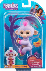 WowWee Fingerlings Baby Monkey Sydney Purple 3721