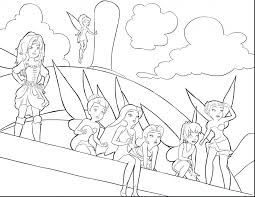 Coloring Pages Free Printable Disney Tinkerbell Of And Her Fairy Friends Great Pirate
