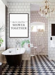bathroom decor save water shower together bathroom