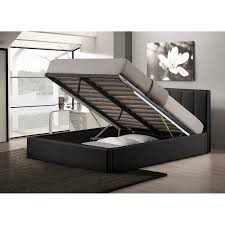 Baxton Studio Platform Bed by Upholstered Platform Bed With Storage Also Bedding Whole Interiors