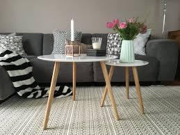 grau in grau beistelltische wohnzimmer