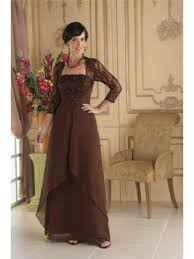 sleeve lace and chiffon evening dresses mother of the bride