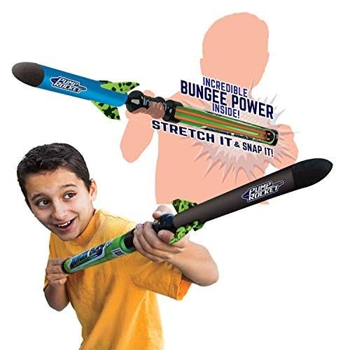 GeoSpace Bungee Blast JR Foam Pump Rocket Toy - with EZ Pull Bungee Power System