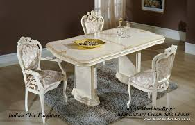 FREE DELIVERY UK Mainland Only The Elizabeth Rectangular Dining Room Table Chair Set Quality Italian Made Chic Furniture