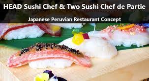 chef de partie en cuisine sushi chef and two sushi chefs de partie japanese peruvian