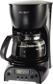 Mr Coffee 4 Cup Programmable Maker Black DRX5