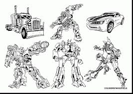 Coloring Pages Transformers Transformer Dinobots With 4 Drawing At
