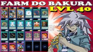 yugioh bakura character deck deck pra farmar o bakura lvl 40 7 000 a 8 000 pts yu gi oh duel