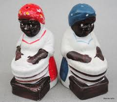 Details About Salt Pepper Shakers Black Americana Repro Woman At Wash Tub Porcelain China TubsPrimitive KitchenSalt